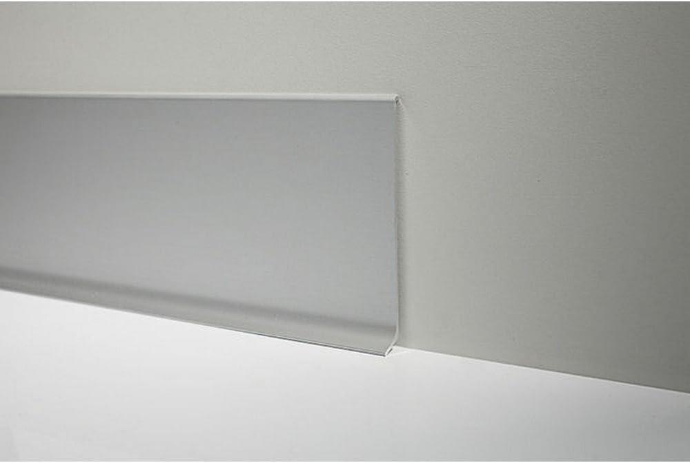 Zócalo de aluminio anodizado satinado 90/6S SF Metal Line Profilpas