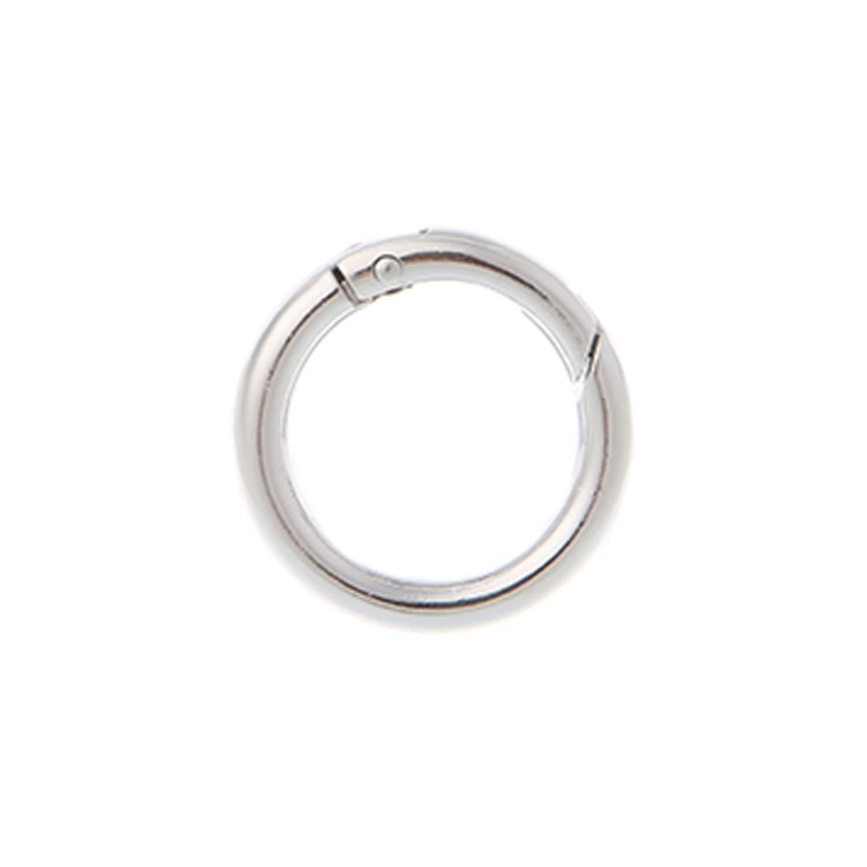 Hulione 5Pcs Round Ring Circle Spring Snap For Diy Keyring Hook Bag Buckle Handbag Purse,Black,Onesize