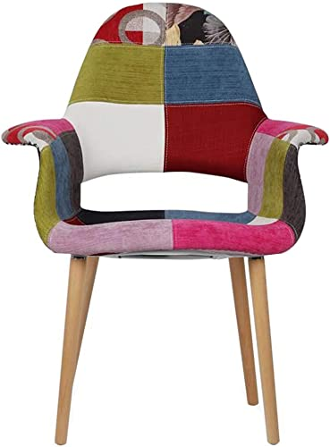 2xhome CH Ann . Organic Upholstered Mid Century Modern Dining Arm Chair