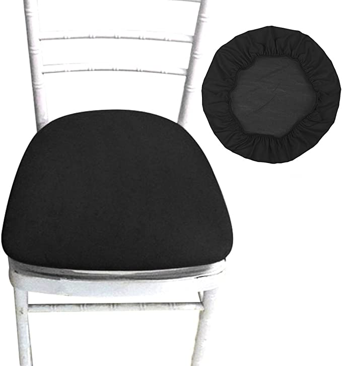 SHZONS Chair Seat Covers, Removable Elastic Dining Chair Cover Protectors Stool Slipcovers for Bar Stools Dining Room Patio Office Chair
