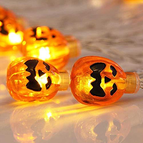 Halloween Pumpkin Lights Lanterns, LED Battery Powered Pumpkin String Lights 3D Jack o Lantern Halloween Pumpkin Lights Decor for Indoor Outdoor Party Ideas