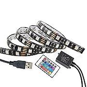 Amazon Lightning Deal 65% claimed: Goodland's Waterproof USB LED Strip Light? 5050 RGB LED Strip?DC5V Flexible Light?TV Background Lighting With 24keys Remote