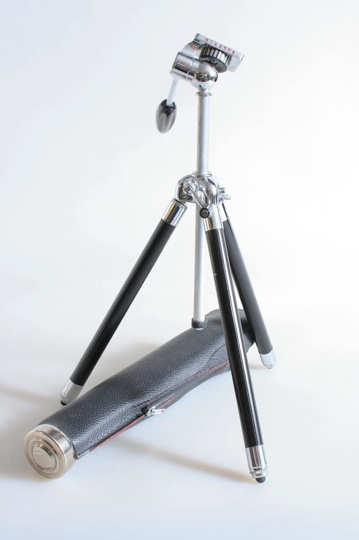 VINTAGE COMPACT TRAVEL TRIPOD WITH CASE