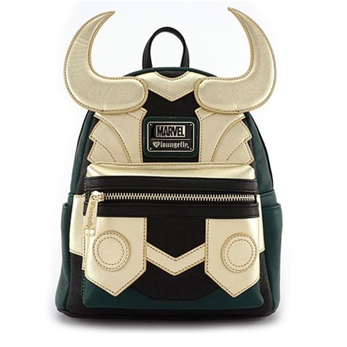 Avengers Loki Faux Leather Mini Loungefly Backpack Standard