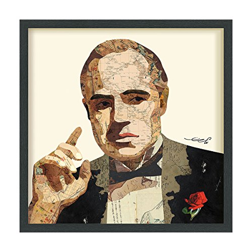 Empire Art Direct Godfather Dimensional Collage Handmade by Alex Zeng Framed Graphic Famous Person Wall Art 25