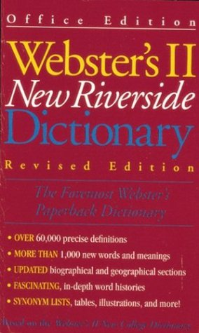 Webster's II New Riverside Dictionary-Revised - Men's Shop Riverside