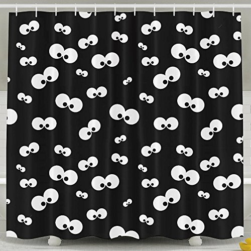 Halloween Cat Theme Decoration Shower Curtain For Bedroom, Mildew Resistant Waterproof Digital Printing Polyester Shower Curtains With Adjustable Hook,72
