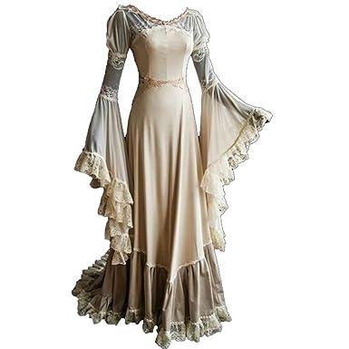 Amazon.co.jp: 中世のセクシーな女性の服 レースドレス