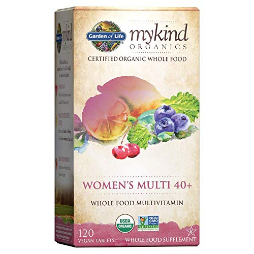 Garden of Life Multivitamin for Women – mykind Organic Women's 40+ Whole Food Vitamin Supplement, Vegan, 120 Tablets