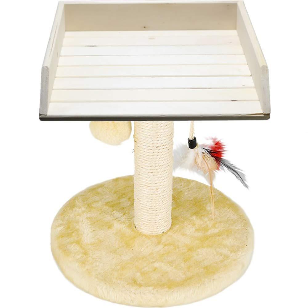 Cat Sisal Scratcher Activity Centre Climbing Frame Chair Form Platform Pets Kitten Play Tower House Home Decorative Furniture