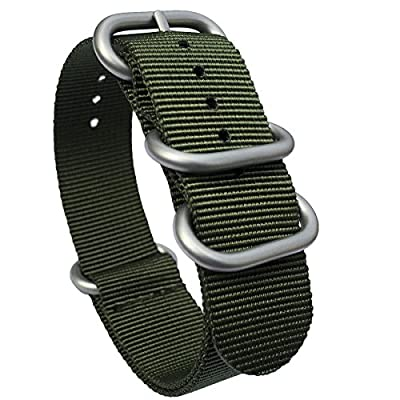 Leesting Nylon Watch Strap 20mm 22mm for Men Women Sandblasted Stainless Steel Buckle
