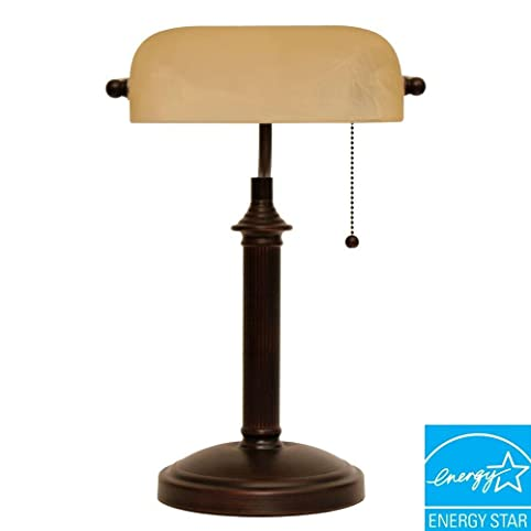 15 In. Oil Rubbed Bronze Bankers Lamp - Table Lamps - Amazon.com