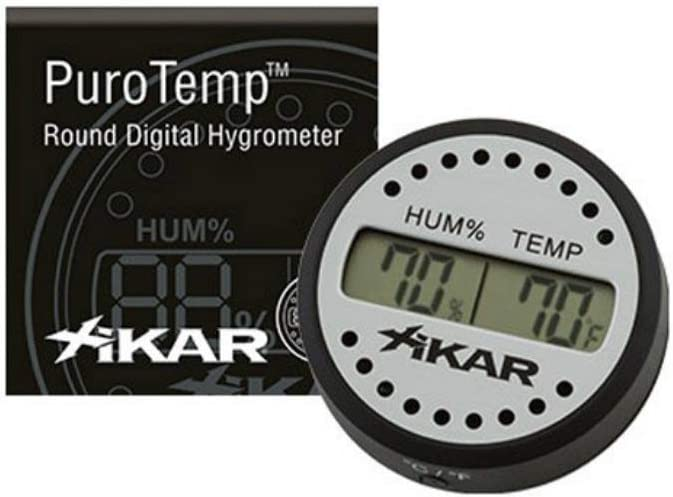 Xikar PuroTemp Round Digital Hygrometer for Cigar Humidors