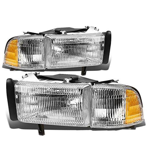 - DNA motoring HL-OEM-DR94-4P, OEM style Headlight Assembly (Driver and Passenger Side)