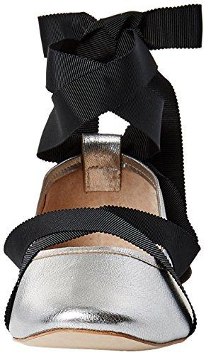 perle F Flat Sort Leathergrosgrain Sølv Loeffler Ballet Randall metallisk RHxAEwq