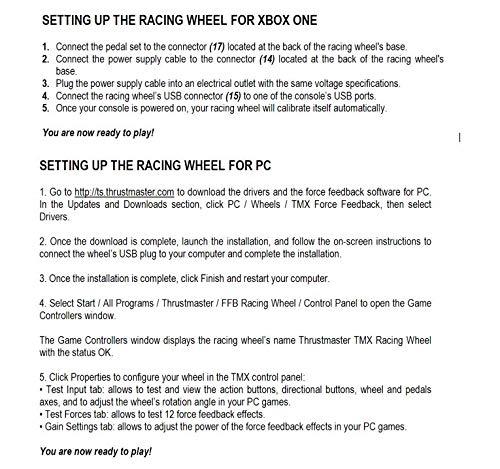 Amazon com: Thrustmaster TMX Force Feedback racing wheel for