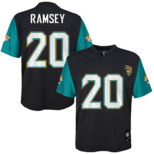 Outerstuff Jalen Ramsey Jacksonville Jaguars #20 Black Youth Mid Tier Home Jersey (Large 14/16)