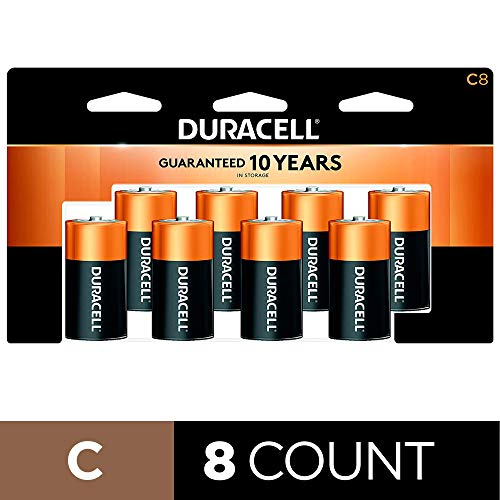 Duracell - CopperTop C Alkaline Batteries with recloseable package - long lasting, all-purpose C battery for household and business - 8 count reviews