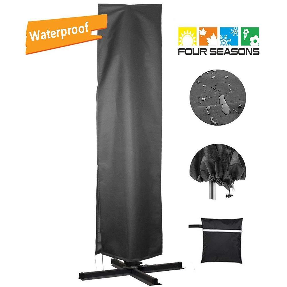 JLXJ Umbrella Cover, Waterproof Shade Patio Outdoor Garden Umbrella Cover, Durable Cantilever Parasol Cover with Zipper (Size : 262x89cm) by JLXJ