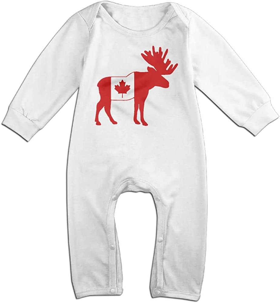 Toddler Baby Boy Girl Coverall Moose in Flag of American Toddler Jumpsuit