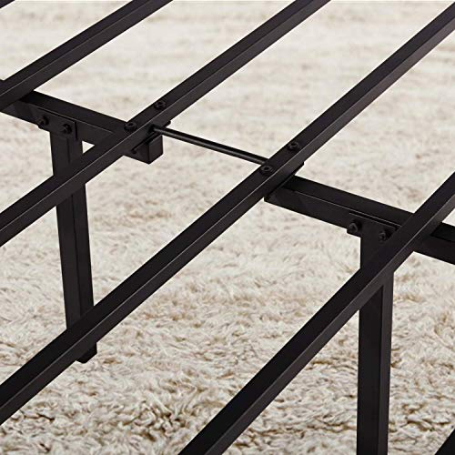 VECELO Metal Bed Frame Platform Mattress Foundation/Box Spring Replacement with Headboard & Footboard, Black