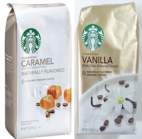 Starbucks Flavored Coffee Caramel and Vanilla 11 Oz. (Set of 2)