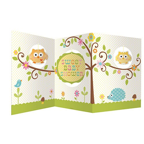 Creative Converting Baby Shower Happi Tree Accordion Centerpiece -