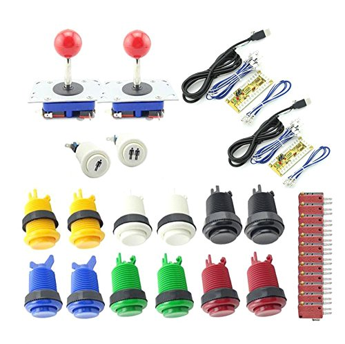 WINIT Arcade Button and Joystick DIY KIT for2 players PC PS/3 2 IN 1 to arcade joystck interface USB 2 player to Jamma Joystick&Button