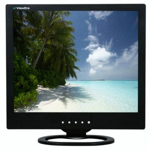 - ViewEra V191HV-B 19 in. LCD Monitor Black With VGA, Composite RCA Video, S-Video And Speakers