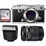 Olympus PEN-F Mirrorless Micro Four Thirds Digital Camera [Silver] + Olympus M.Zuiko ED 14-150mm f/4-5.6 II Lens (USA Warranty)