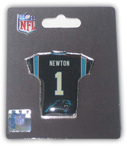 aminco Cam Newton #1 Carolina Panthers Jersey Label Jacket Pin