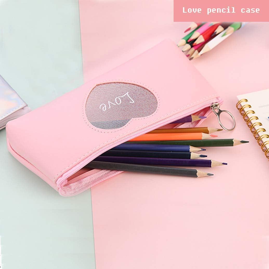 rose /étui /à crayons pour /étudiants sac de rangement pour cosm/étiques Digead /Étui /à crayons /étui /à crayons multifonctionnel Portable simple /à glissi/ère