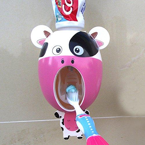 Price comparison product image NPLE--Automatic Toothpaste Holder Dispenser Squeezer Cartoon Cow Bathroom Supplies Pop