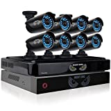 Night Owl Security 8 Channel Smart HD Video Security System with Battery Backup System, 2 TB HDD and 8 x 720p HD Cameras