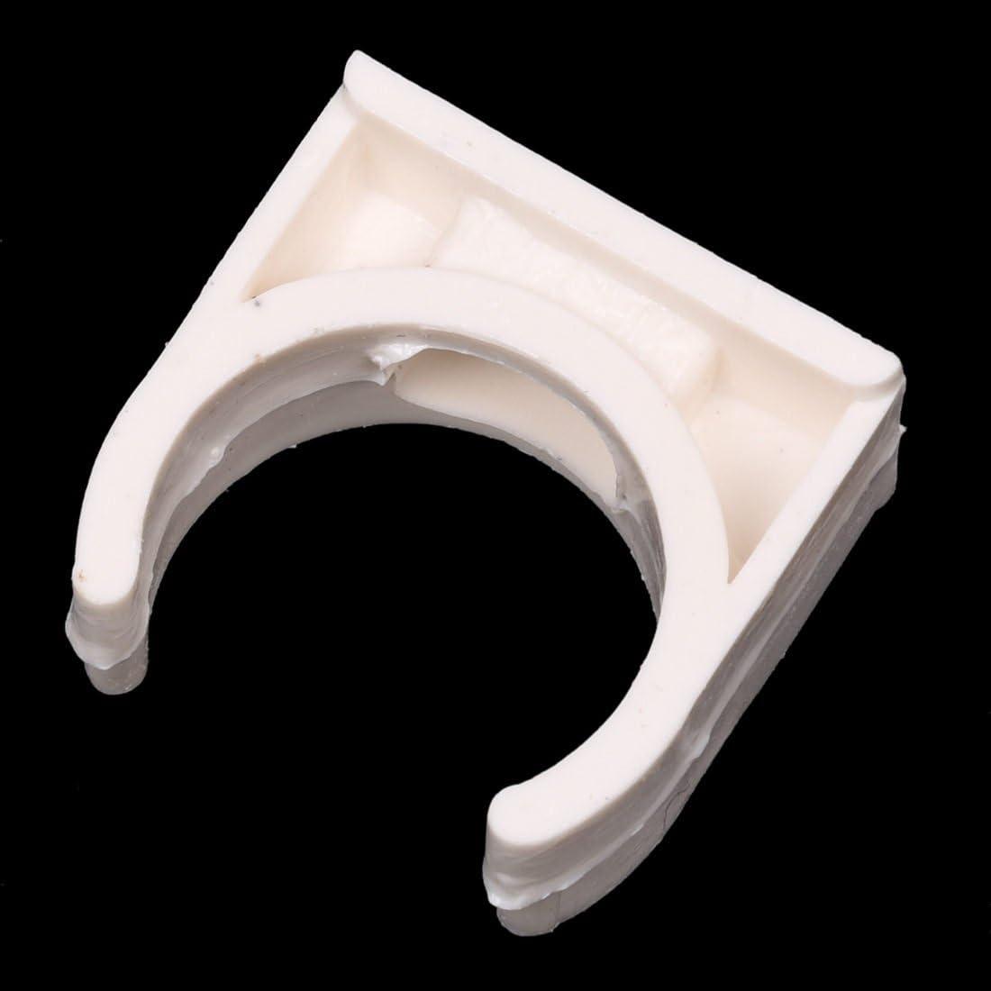 VYNBDA 10 Stueck 20mm Durchmesser Weiss PVC Wasserversorgung Rohrschellen Klemmen Beschlaege