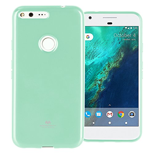 Goospery Pearl Jelly for Google Pixel XL Case with Screen Protector Slim Thin Rubber Case (Mint) PIXXL-JEL/SP-MNT