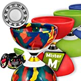 Ball Bearing Diabolo with 3 Ball Bearings + Sticks + Extra String + Free Online Video - Extra Quiet, Super Spin. Designed by Mister M/The Ultimate Diabolo Set (Camouflage)