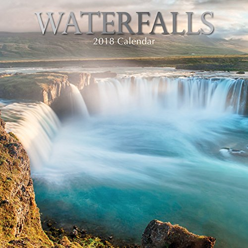 2018 Waterfalls Calendar - 12 x 12 Wall Calendar - With 210 Calendar Stickers