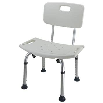 Home Improvement Aluminum Alloy Bbackrest Bath Stool Thickening Antiskid Bathroom Chair For The Elderly Pregnant Women And Disabled Persons