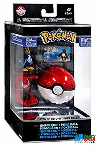 Tomy Pokemon XY Trainers Choice Catch N Return Empoleon & Poke Ball Figure Set