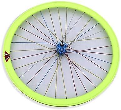 Riscko 004l Rueda Trasera Bicicleta Personalizada Fixie Talla L Amarillo Fluor: Amazon.es: Deportes y aire libre