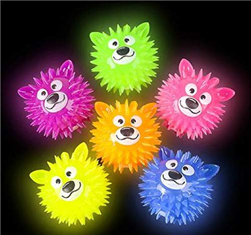 Shop Zoombie Bear Light-Up Ball Squeaky Flashing Toy Ball - Party Favors, Glow Parties, Prizes, Sensory Toys, Easter Baskets, Stocking Stuffers (12 Pack) ()