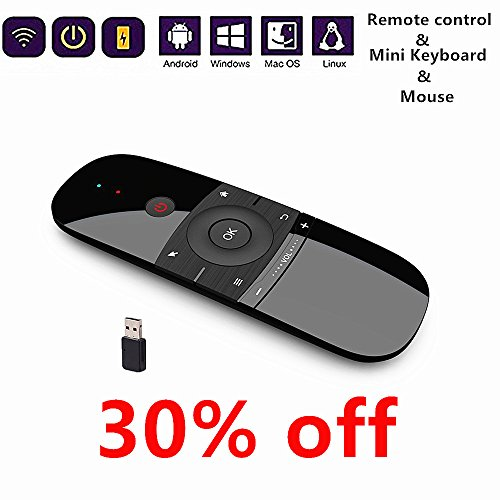 Newest Air Mouse With Keyboard 2.4Ghz Wireless Motion Smart TV Remote Controller Android TV Box Mini Keyboard For Android TV Boxes, PCs, Laptops, Projectors And Smart TVs by Galaxyfun