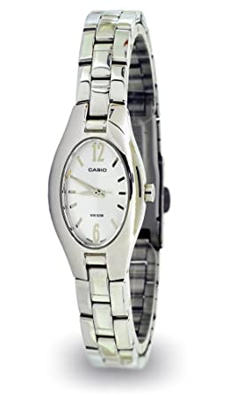 f62b45edf62e2e Image Unavailable. Image not available for. Color: Casio LTP-1290D-7AV Ladies  Silver Elegant Watch - Stainless Steel