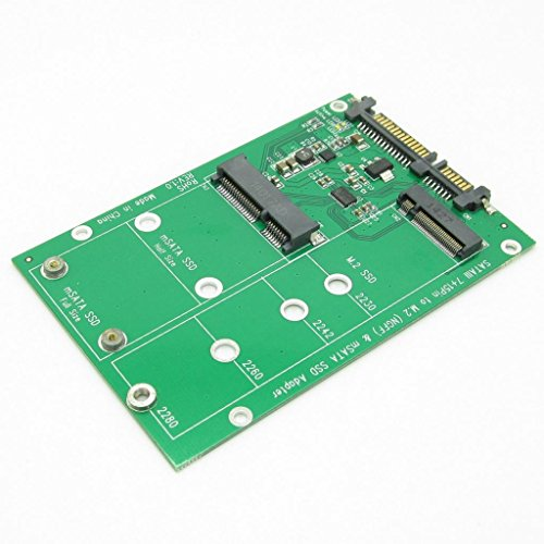 - JIUWU 2 in 1 Combine Mini PCI-E M.2 NGFF & mSATA SSD To SATA 3.0 III Adapter PCB Card