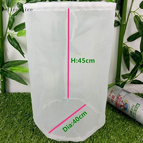 de Tea Milk Coffee Juice Wine Mash Nylon Filter Bag Liquid Filter Bucket Home beer brew Filter Bag: D 40cm H 45cm ()