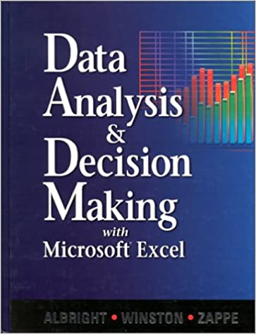 Data Analysis And Decision Making With Microsoft Excel: S