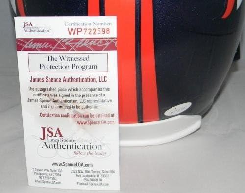 JSA Certified ED McCAFFREY /& ROD SMITH AUTOGRAPHED SIGNED DENVER BRONCOS FULL SIZE HELMET Autographed NFL Helmets