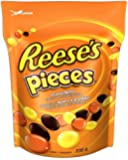 REESE Pieces Christmas Chocolate Peanut Butter Candy, Stocking Stuffer, 230 Gram
