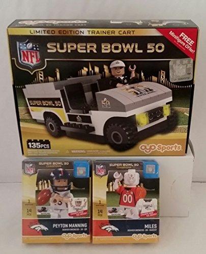 OYO NFL Gift Set - Denver Broncos Superbowl 50 Bundle of 3 Items -